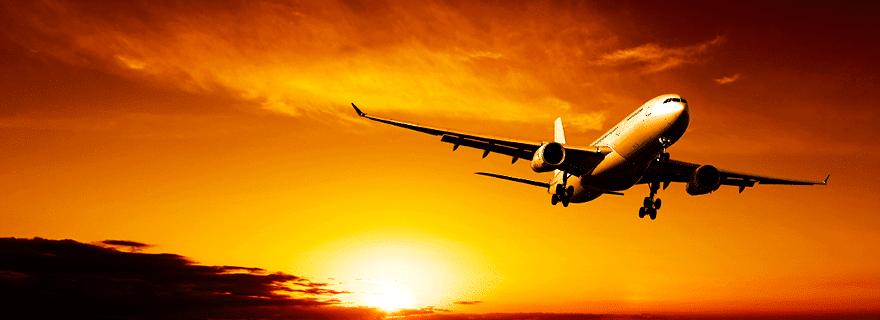 Vols pas chers pour la Thaïlande - avion à contre jour