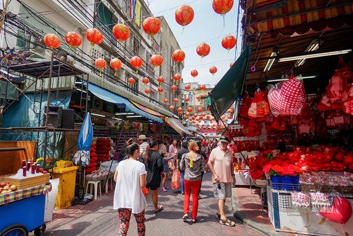 Chinatown, le quartier chinois de Bangkok - Marchés ambulants