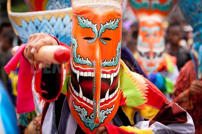 Festival de Phi Ta Khon - masque de prêt