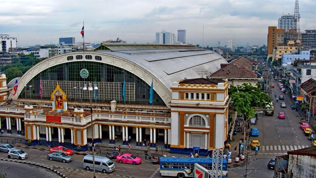 Gare de train Hua Lamphong de Bangkok