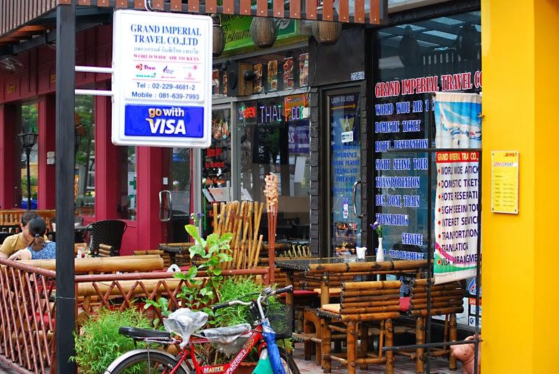 Les agences de voyage à Khao San Road