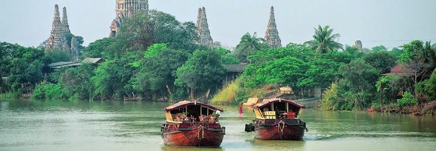 Comment aller de Bangkok à Ayutthaya - bateau sur la rivière