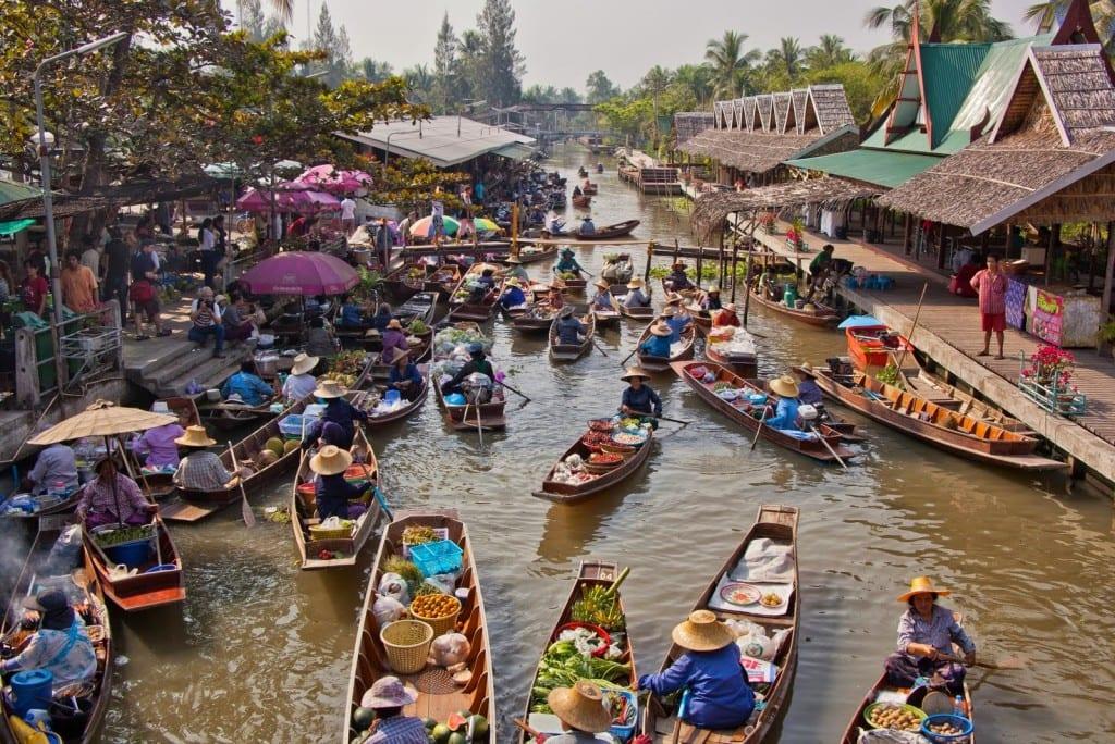 guide des excursions à Bangkok - marché flottant