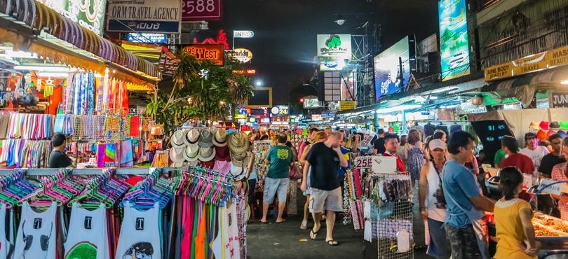 Guide de Khao San Road - Marchands de rue