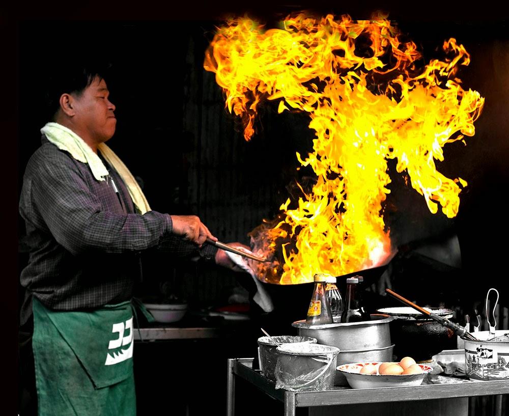Guide de la cuisine thaïlandaise - Flambage au wok