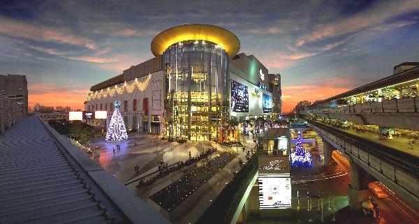 Top 8 hôtels pas chers les plus populaires dans la zone de Siam - vue aérienne du centre commerciale