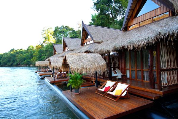 Top 8 des hôtels de charme à kanchanaburi - bungalow flottant