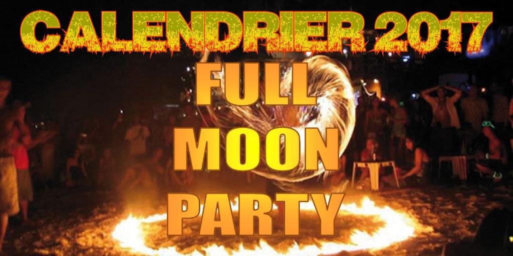 Calendrier 2017 des Full moon Party à Koh Phangan