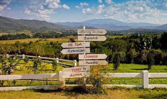 Itinéraire alternatif pour voyager dans le nord de la Thaïlande - panneaux d'indications