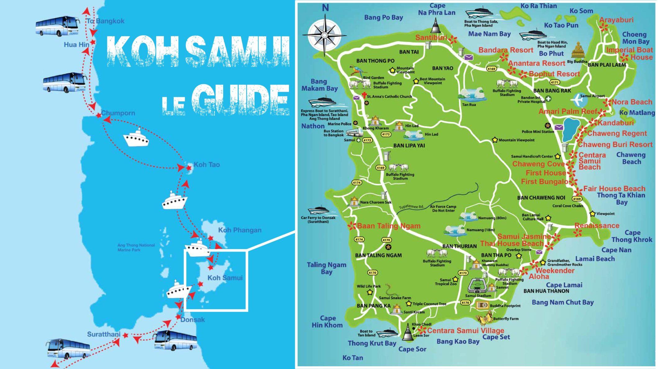 Carte Koh Samui En Francais.Guide De Koh Samui 2019 Informations Pratiques