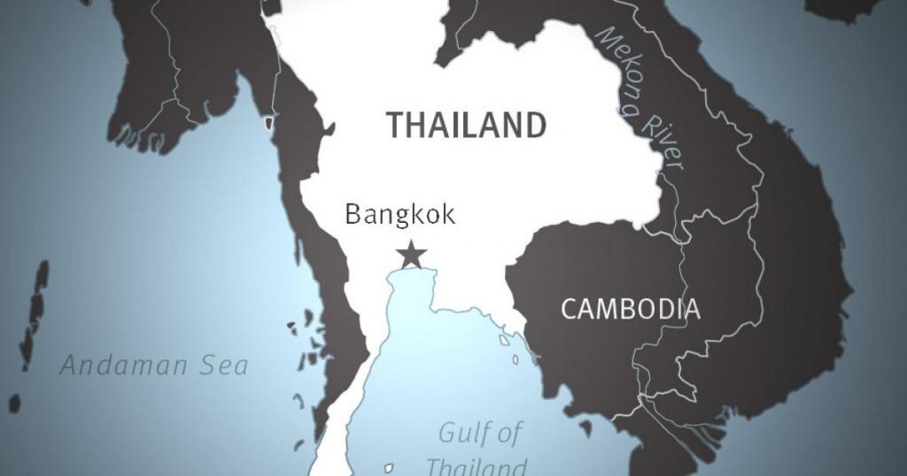 meilleure période pour voyager en Thaïlande? carte de la Thaïlande