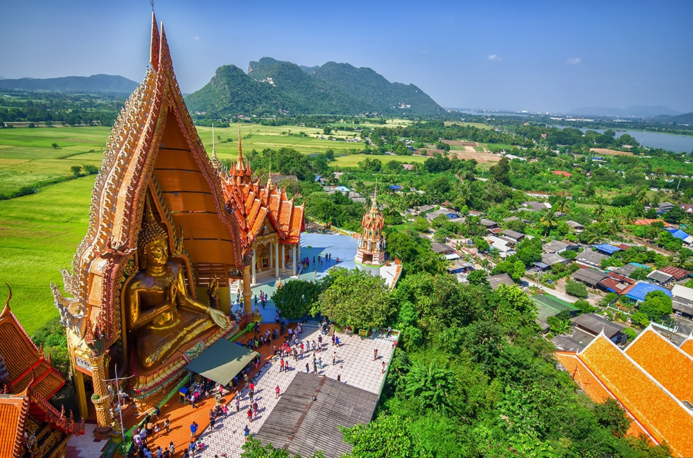 Temple de la grotte du Tigre - Vue aérienne sur le grand Bouddha