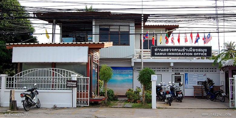 Extension de Visa en Thaïlande - poste d'immigration de Koh Samui