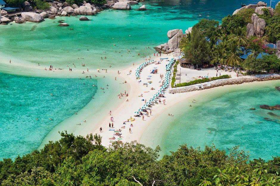 île de Koh Nang Yuan - photo aérienne