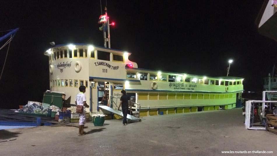 Ferry de nuit pour Koh Tao - Bateau Suratthani - koh tao