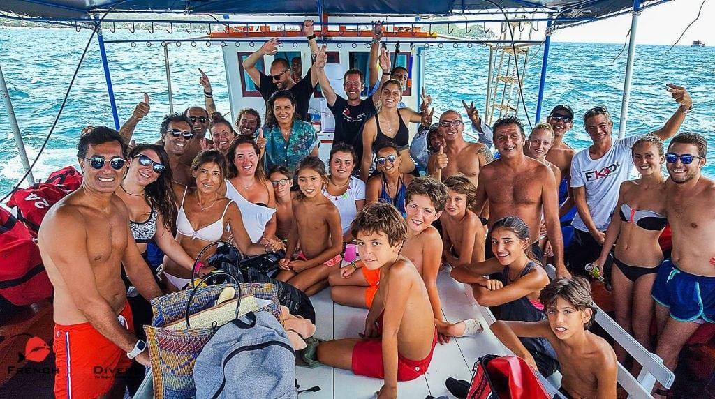 Plongée à Koh Tao - Sur le bateau de French Kiss Divers